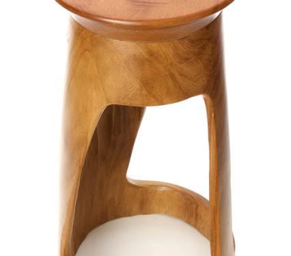 """24"""" African Tweneboa Wood Table"""