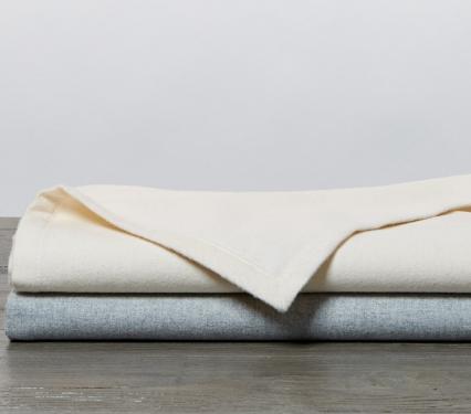 Organic Flannel Receiving Baby Blanket Set of 2 Blankets
